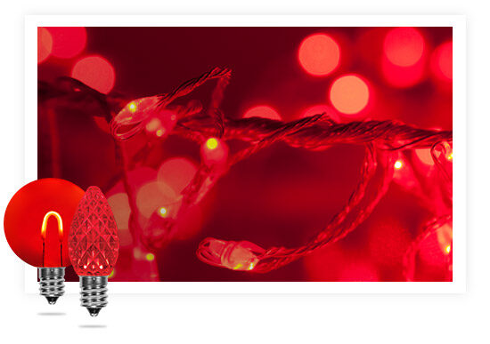 Red Colored String Lights