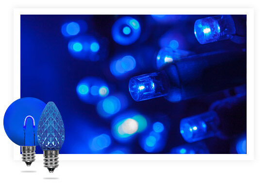 Blue Colored String Lights