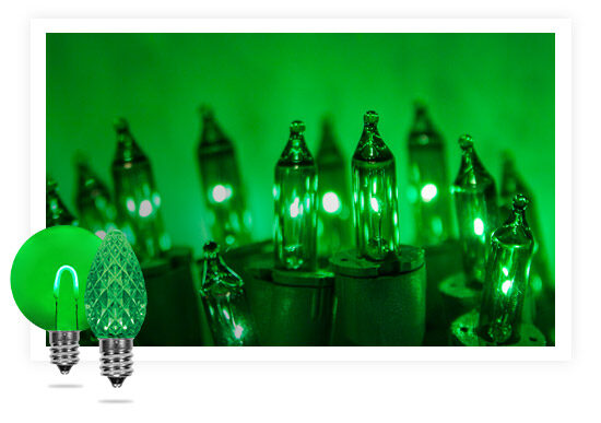 Green Colored String Lights