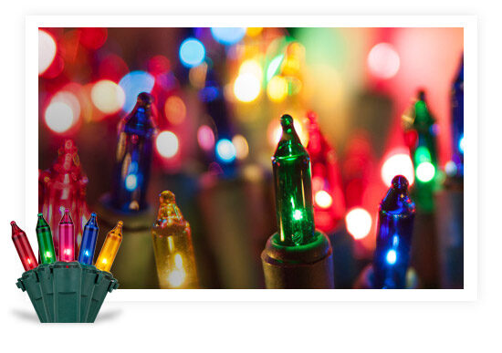 Incandescent Colored String Lights