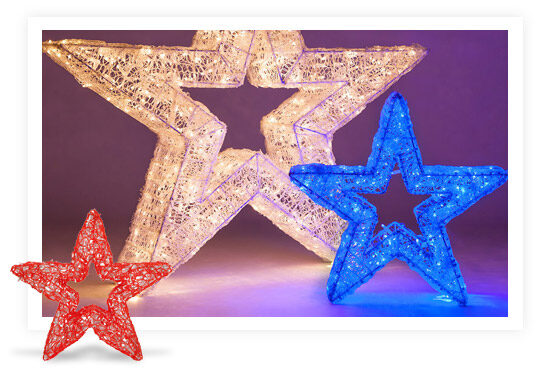 Standing Star Light Decorations