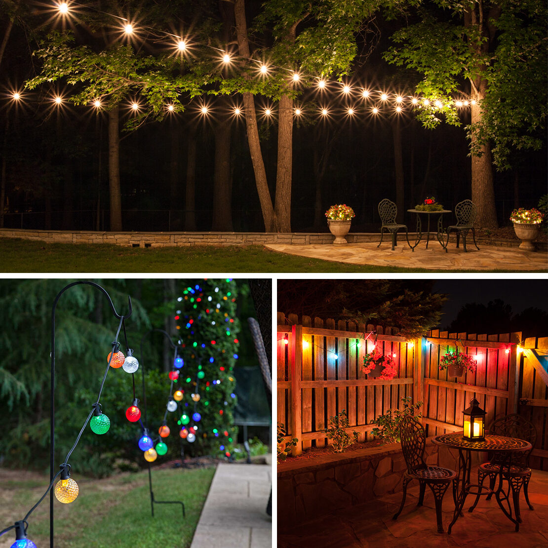 Outdoor Decorating Ideas Using Globe String Lights