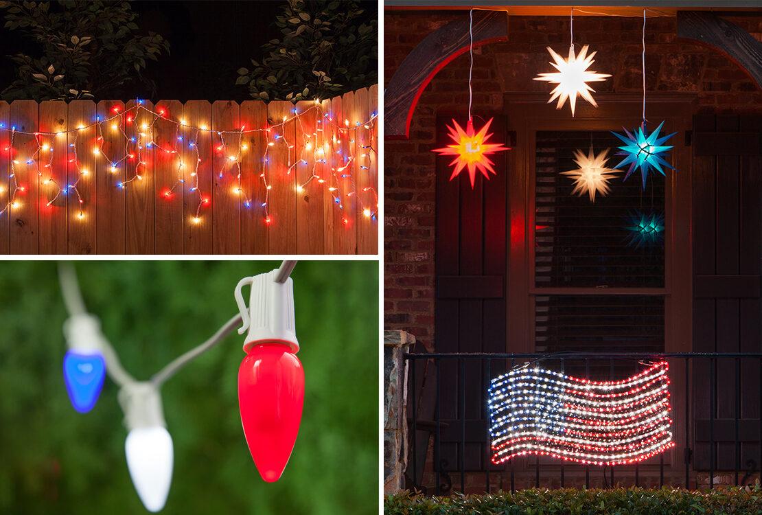 Patriotic Outdoor Party Lights
