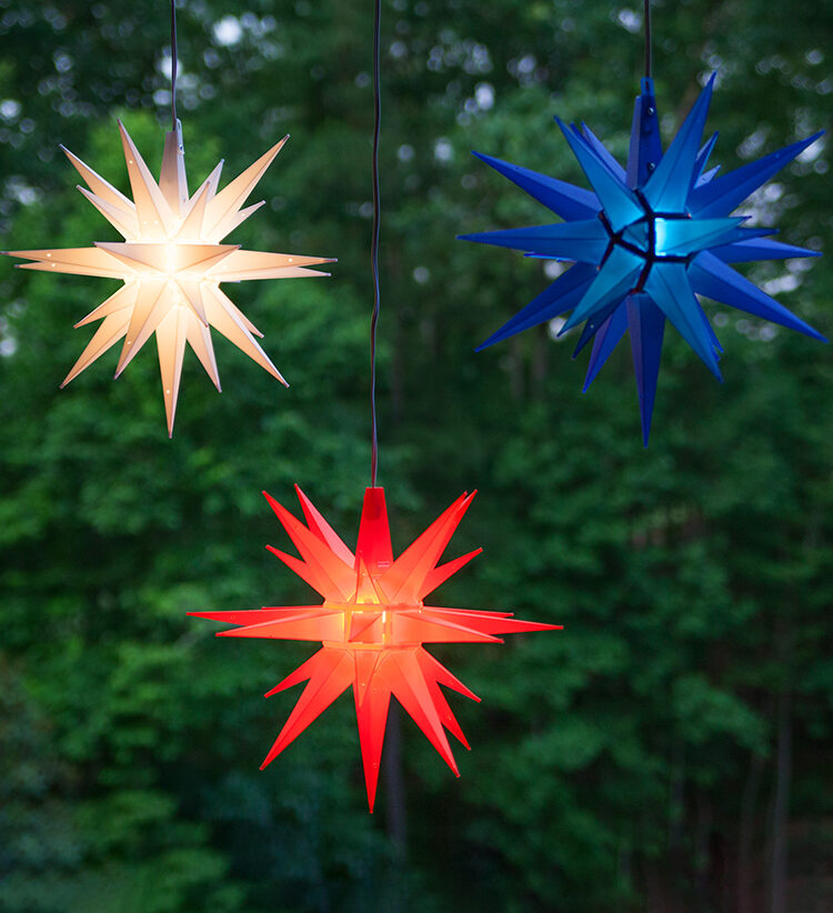 Patriotic Outdoor Star Lights