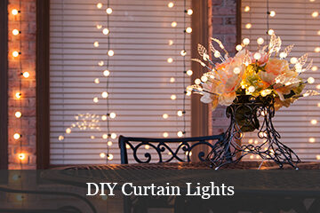 DIY Curtain Lights