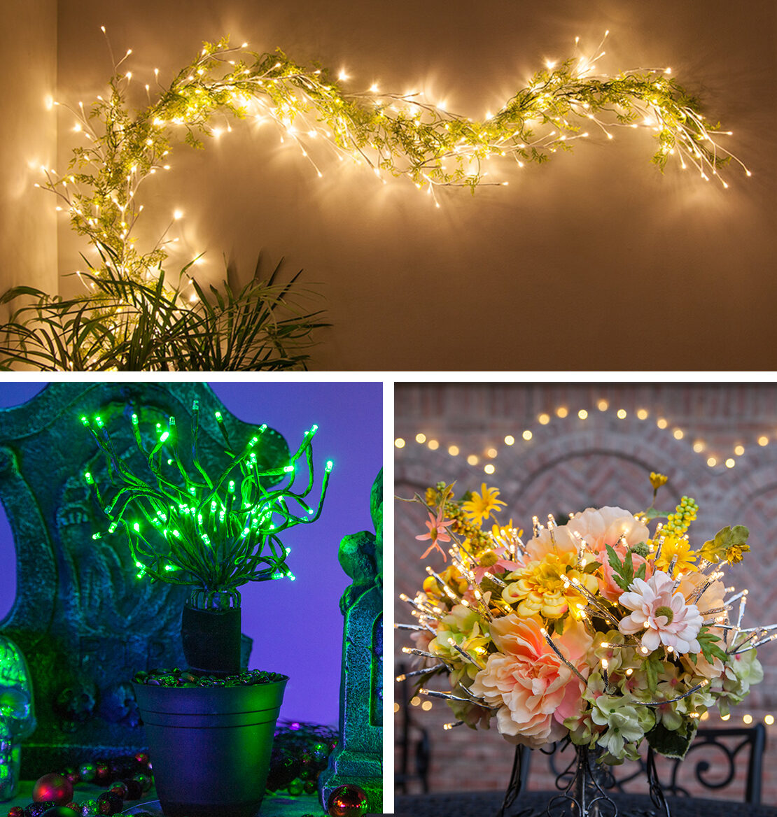 Decorating Ideas Using Lighted Branches
