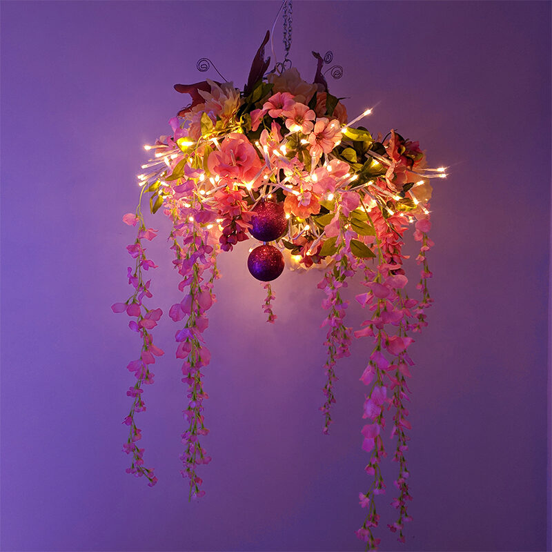 Starburst Lighted Branches DIY Idea - Create a Flowering Chandelier Light!