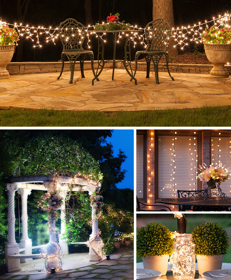 White String Lights Wedding Decoration Ideas