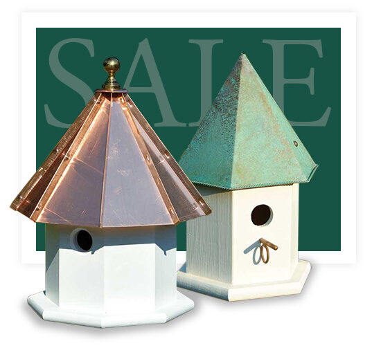 Copper Top Bird Houses for Sale