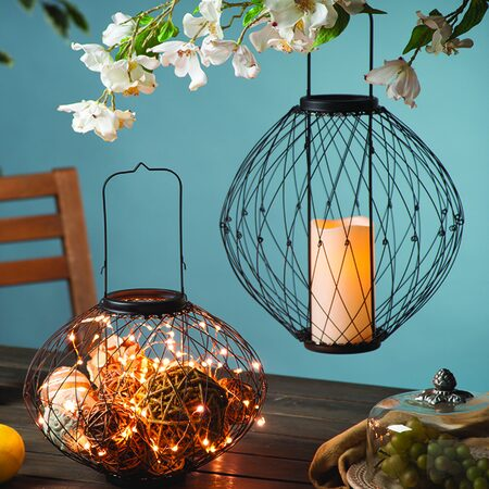 Adjustable Wire Candle Lanterns