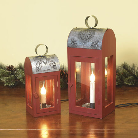 Decorative Wooden Electric Candle Lantern