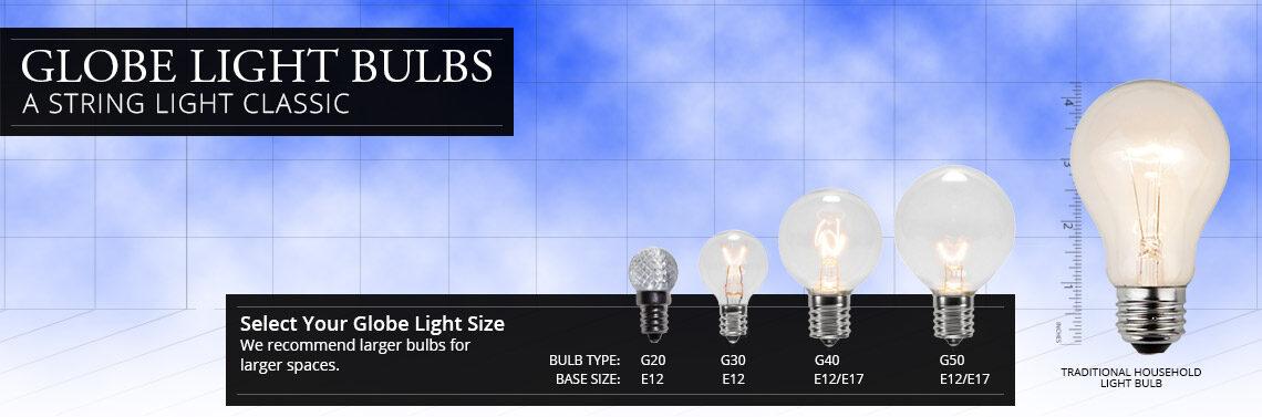 Globe Light Bulb Sizes