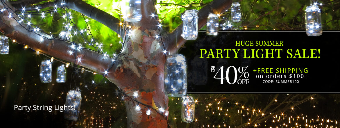 Huge Summer Party Lights Sale!
