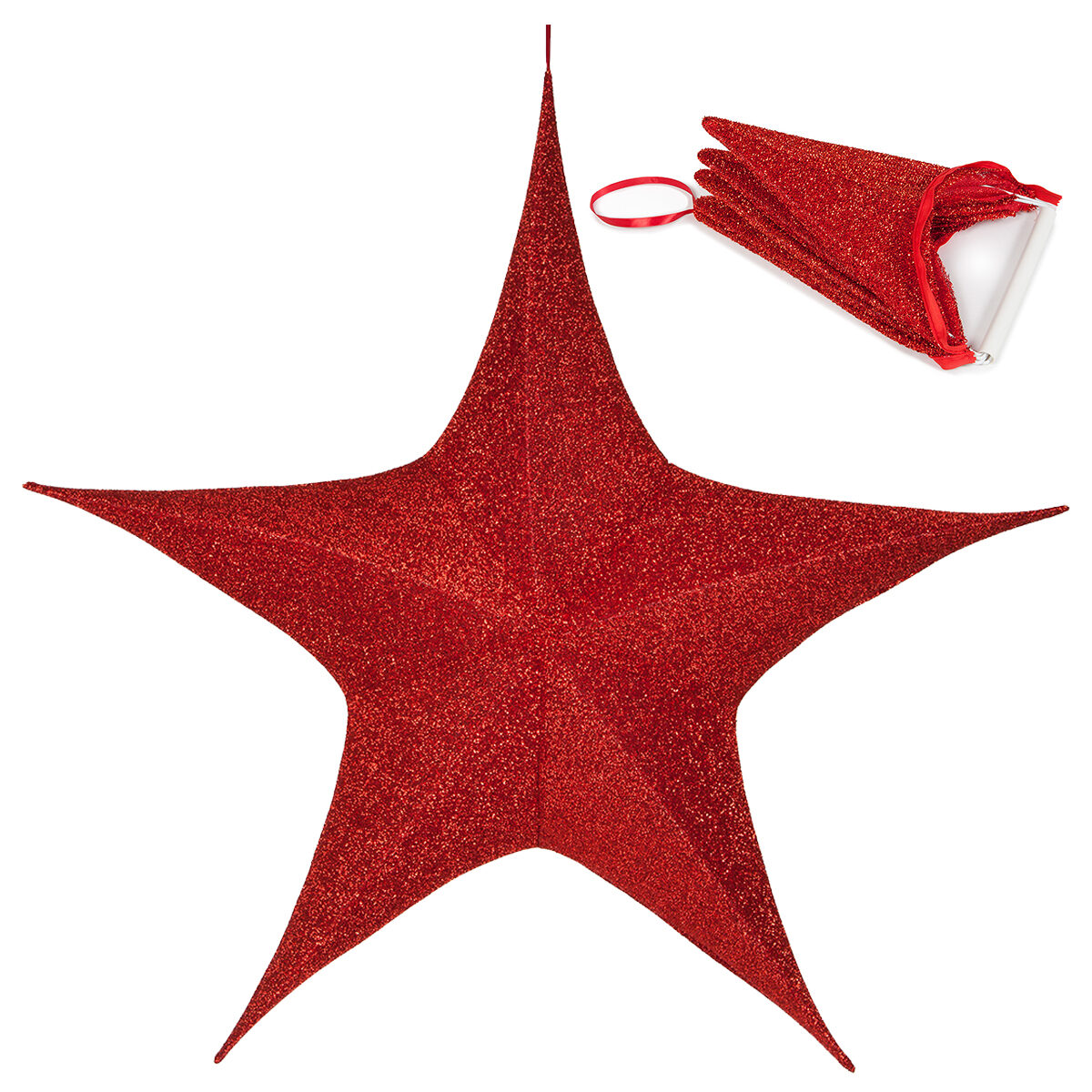 Fold-Flat Christmas Stars