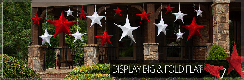 Unlit Christmas Star Decorations