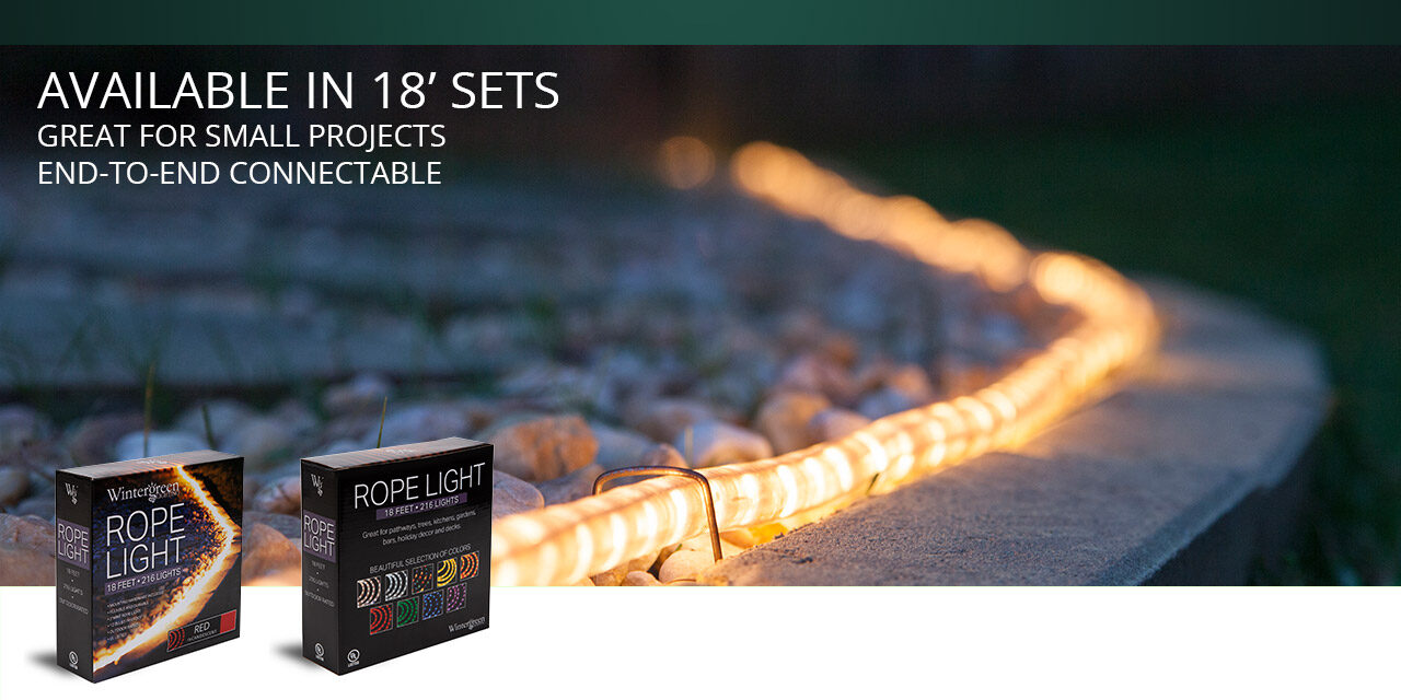 18 Foot Rope Light Kits for DIY Home Lighting