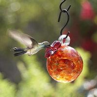 Amber Pearl Drop Hummingbird Feeder