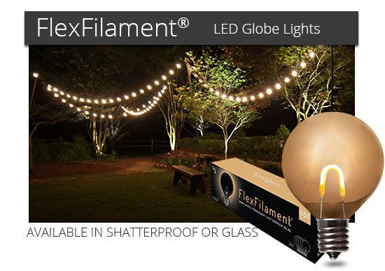 FlexFilament LED Globe Lights
