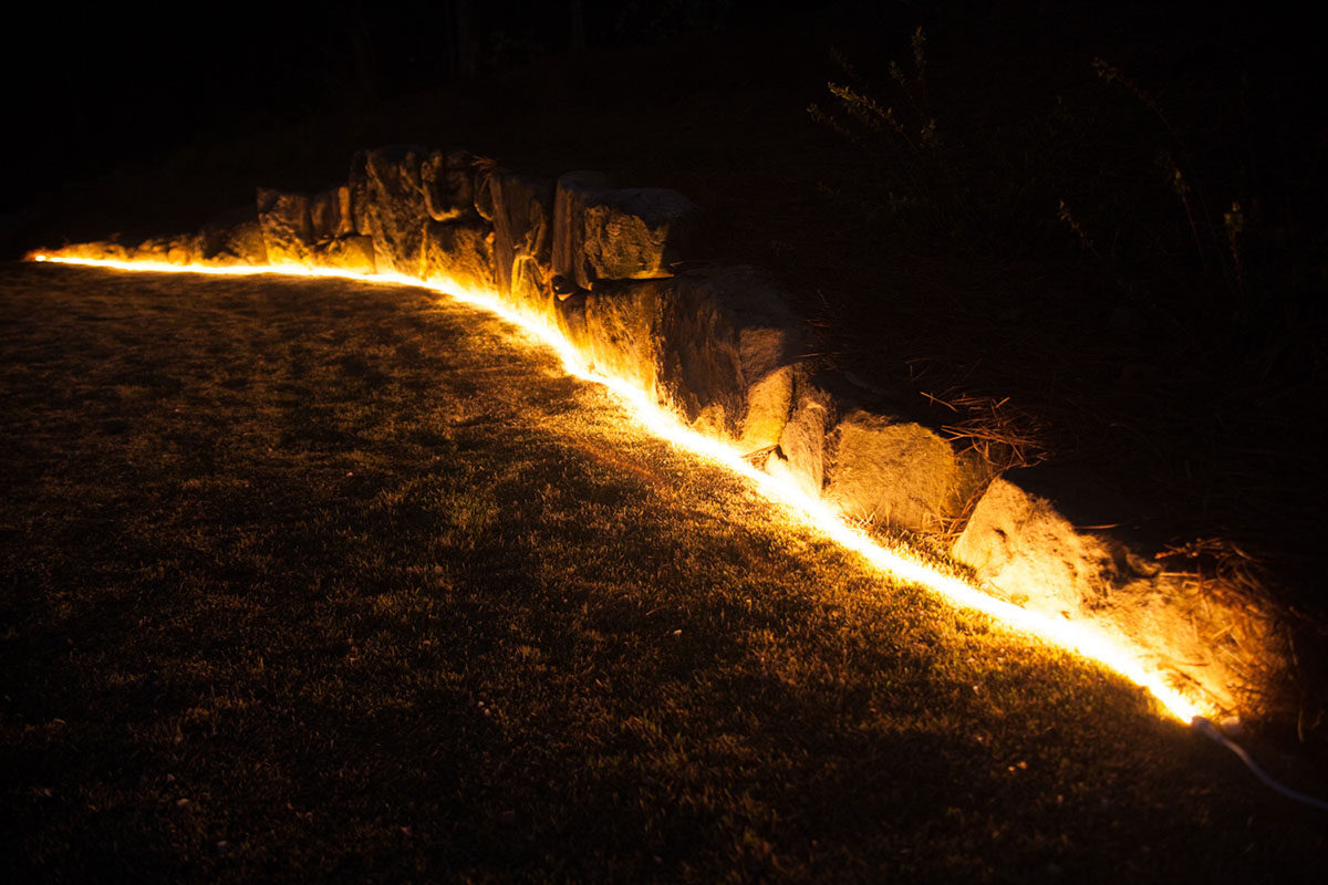 Outline Landscape Contours with Rope Light