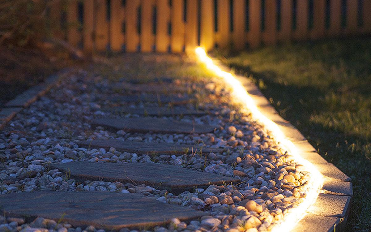 Rope Light Walkway